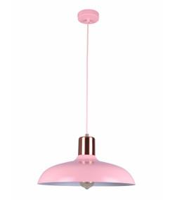 Pendant Light - Hanging Dome 216mm 40W Matte Pink