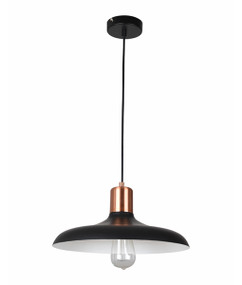 Pendant Light - Hanging Dome 216mm 40W Matte Black