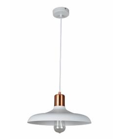 Pendant Light - Hanging Dome 216mm 40W Matte White
