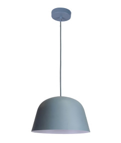 Pendant Light - Modern High Dome 155mm 40W Matte Blue