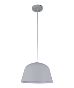 Pendant Light - Modern High Dome 155mm 40W Matte Grey