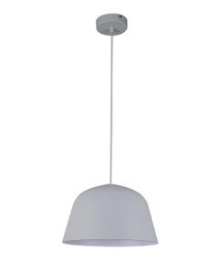 Cigaredo Pendant Light - Modern High Dome 155mm 40W Matte Grey