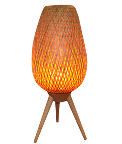 Table Lamp - Unique Shaped with Flame Effect 590mm 25W