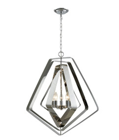 Pendant Light - Chic Pentagon 5 Lights 696mm 60W Polished Nickel