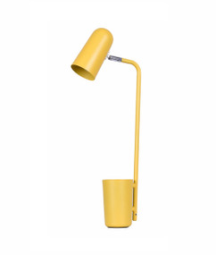 Table Lamp - Sleek Capsule Shape 490mm 40W Matte Yellow
