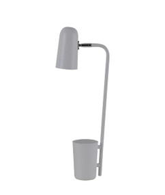 Table Lamp - Sleek Capsule Shape 490mm 40W Matte Grey