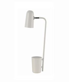 Table Lamp - Sleek Capsule Shape 490mm 40W Matte White