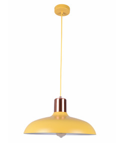 Veziko Pendant Light - Hanging Dome 216mm 40W Matte Yellow