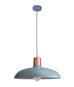 Pendant Light - Hanging Dome 216mm 40W Matte Blue