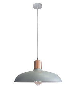 Pendant Light - Hanging Dome 216mm 40W Matte Grey