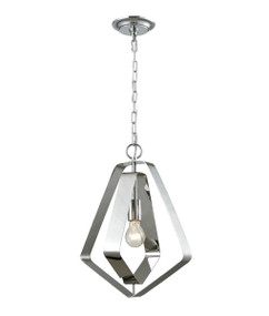 Pendant Light - Chic Pentagon 424mm 60W Polished Nickel