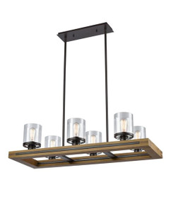 Pendant Light - Modern Rectangular 6 Lights 231mm 60W