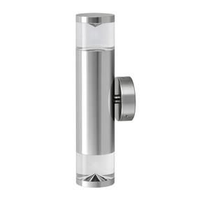 Up Down Light - Sleek Cylindrical 263mm 70W Chrome