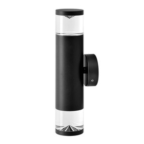 Up Down Light - Sleek Cylindrical 263mm 70W Black