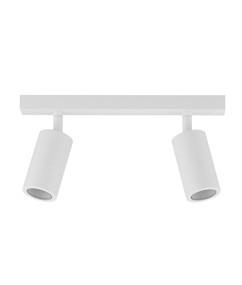Ceiling Lights - 2 Adjustable GU10 Spotlights White C200