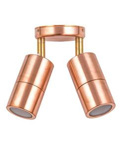 Ceiling Lights - 12V IP65 Adjustable 2 MR16 Spotlights Copper C200