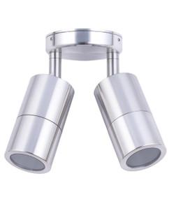 Ceiling Lights - 12V IP65 Adjustable 2 MR16 Spotlights Chrome C202