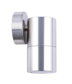 Outdoor Wall Light - Polished Cylindrical 12V 110mm 20W Chrome