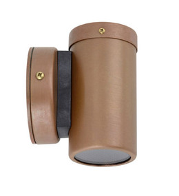 Outdoor Wall Light - Sleek Cylindrical 12V 105mm 20W Aged Copper