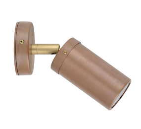 Spotlight - Sleek Cylindrical 12V 105mm 20W Aged Copper