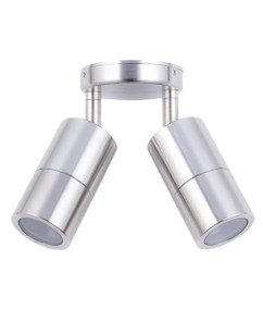 Ceiling Lights - Marine Grade 316 12V IP65 Adjustable 2 MR16 Spotlights Chrome C200