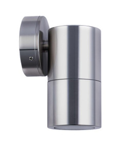 Outdoor Wall Light - Smooth Cylindrical 12V 110mm 20W Chrome