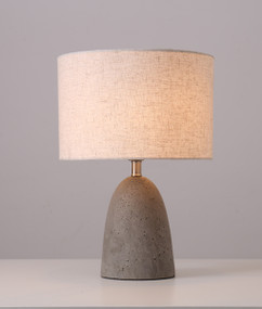 Table Lamp - Chic Elliptical Shaped 435mm 40W Cement Grey
