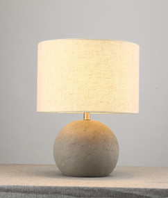 Table Lamp - Chic Round Shaped 430mm 40W Cement Grey
