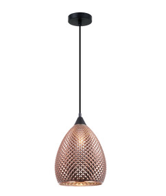 Pendant Light - Hanging Elliptical Glass 320mm 72W Copper