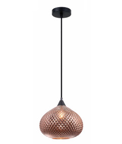 Pendant Light - Contemporary Hanging Glass 250mm 72W Copper
