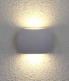 Up Down Light - Sleek Curved 3000K 500lm 100mm 6.8W Sand White