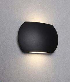 Up Down Light - Sleek Curved 3000K 500lm 100mm 6.8W Black