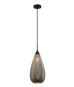 Pendant Light - Hanging Curved 380mm 72W Gold