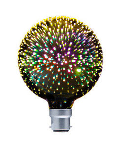 Fireworks Effect Globe - Round B22 50lm 164mm 4W Firework