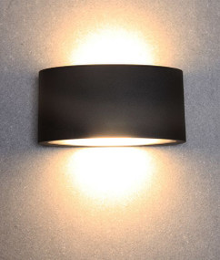 Up Down Light - Sleek Elliptical 3000K 520lm 70mm 6.8W Black