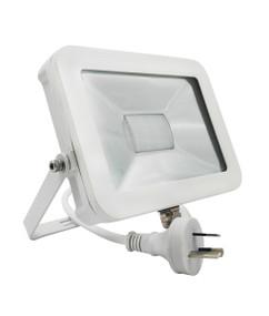 LED Flood Light - Modern Square 5000K 1600lm 130mm 20W Matte White
