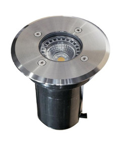 Ground Light - 12V Marine Grade 316 Stainless Steel 20W MR16 IP67 120mm Round