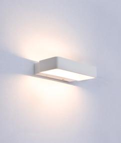 Indoor Wall Light - Modern Refined 3000K 615lm 115mm 6W Matte White