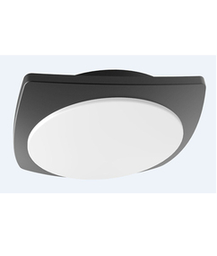 Oyster Light - Modern Sleek 3000K 980lm 55mm 20W Dark Grey