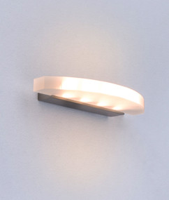 Wall Light - LED Curved Frosted IP20 250mm 460lm 3000K