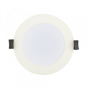 LED Downlight - Dimmable 10W 1000lm IP54 Tri Color 115mm White Low Profile