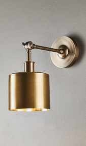 Indoor Wall Light - Antique Brass PTO