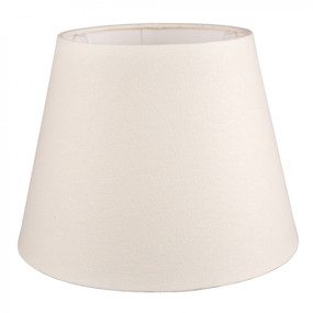 Lampshade - 12x8x9 Off White Linen