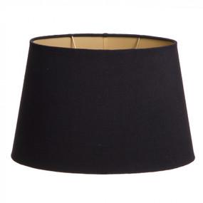 Lampshade - (14x9)x(11.6)x9 Black Linen Gold