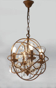 Chandelier - Small, Rust SDE