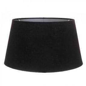Lampshade - 18x14x10 Black Linen Silver