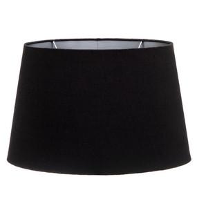 Lamp Shade - 14x9x11 Black Silk Lining Euro