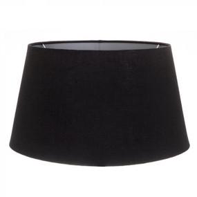 Lampshade - 20x18x12 Black Linen Silver Euro