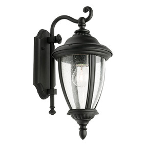 Outdoor Wall Light - Marine Grade 60W IP43 395mm Black