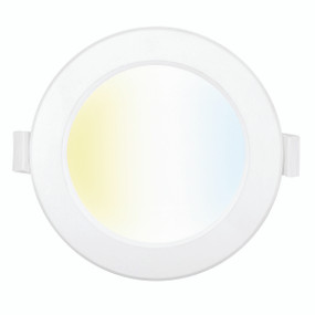 Smart Downlight - Dimmable 9W 750lm IP44 Tri Colour 115mm White